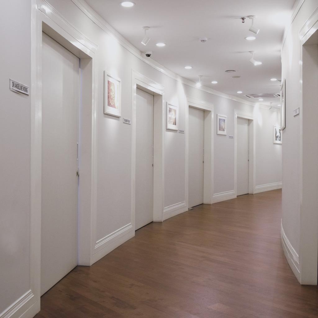 corridor view of PHI Clinic's office bukit damansara